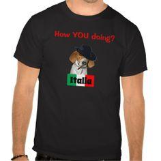 Funny Italian Mobster Charley Dog Tshirt