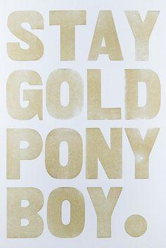 Stay Gold Pony Boy by Union Press