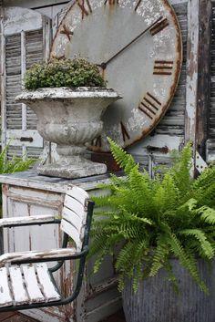 Vintage Urns - via ATELIER DE CAMPAGNE: REMNANTS of the PAST & Atelier de Campagne