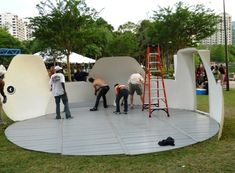 InterShelter 20ft Dome - ground flooring system