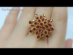 Beading4perfectionists : Netted bracelet with 6mm Swarovski and seedbeads beading tutorial - YouTube Diy Jewelry Inspiration, Wire Rings, Beaded Rings, Gold Rings, Jewellery Sale, Designer Jewellery, Beaded Jewelry Designs, Necklace Designs, Armband
