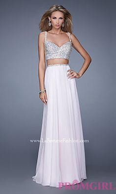 Long Two Piece Prom Dress by La Femme at PromGirl.com