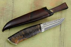 Puukko with Willow and Damascus