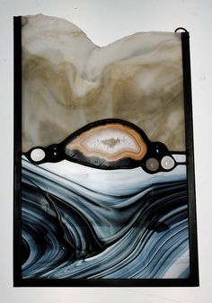Stained Glass Window Panel Hanging Agate by stainedglassfusion Stained Glass Mosaic, Agate Art, Sculpture Art, Writing Art, Stained Glass, Geode Art, Art, Glass Art
