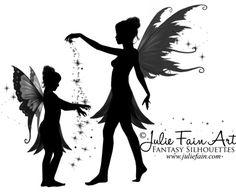 child fairy sillouette | Pin Julie Fain Art Fairy Silhouette Mermaid Faery on Pinterest