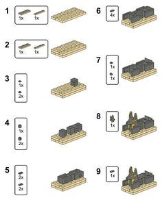 Egyptian Party : Lego Sphinx Building Instructions : great kids activity for any egypt themed party