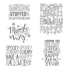 Mingle All the Way Clear-mount Stamp Set - by Stampin' Up!