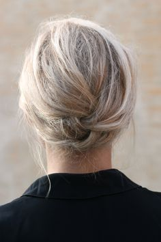 fastest updo ever...and works on my layered/just below the shoulders hair!