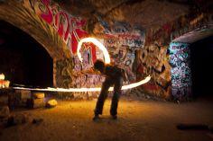 Catacombes de Paris - some fire play