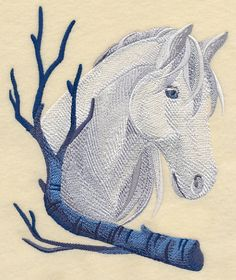 Wintry Horse design (L8947) from www.Emblibrary.com