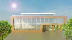 #modern building  #sketch up  #v_ray #photoshop
