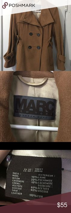 Marc New York wool Peacoat Great condition tan camel color Pea Coat from Marc New York, Andrew Marc! Fits true to size XS/S Nordstrom Jackets & Coats Pea Coats