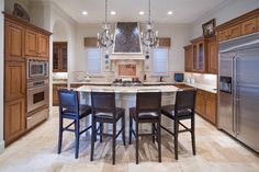 Tuscan farmhouse style in a contemporary kitchen.