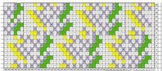Схема ажурного узора для вязания спицами. Таким ажурным узором напоминающим листья можно связать пуловер или джемпер. Красиво будет также смотреться