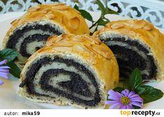 Nekynutý makový závin z mála surovin recept - TopRecepty.cz Sushi, Sweets, Ethnic Recipes, Food, Gummi Candy, Candy, Essen, Goodies, Meals