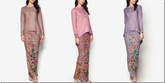A Must-Have Batik Inspired Kurung With Asymmetrical High Low Hem Blouse