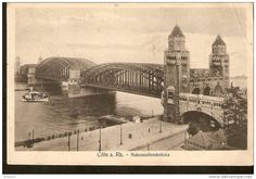 440. Germany, Coln a. Rh.  - Hohenzollernbrucke - Feldpost 1916