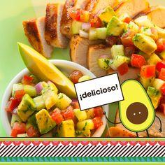 "¡Viva  el Avocado! Celebrate ""Hispanidad"" with Latin flavored fare…like this Cumin-Rubbed Chicken with Avocado Salsa. #HispanicHeritageMonth via @AvosFromMexico"