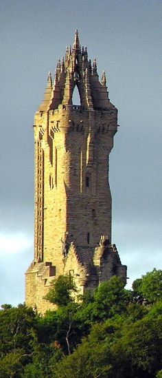 Wallace Monument, Scotland....i picture the Love's walking down the backside of this... Getting lost in scotland.  Too funny.. wish we could all go back..