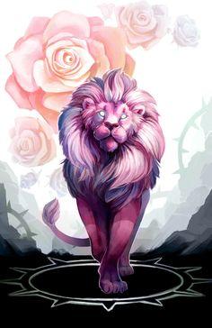 Pink Lion,Lion (SU),SU Персонажи,Steven universe,фэндомы,SU art