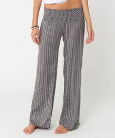 Take a look at the Gray Johnson Smocked Pants on #zulily today!