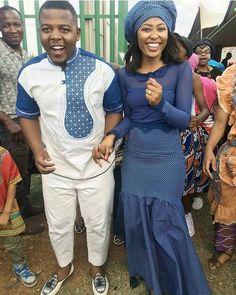 Stylish SOUTH AFRICAN SHWESHWE : Shweshwe is an event-grade culture clothing that makes a ton of design since the world over. Seshweshwe Dresses, Fashion Dresses, Wedding Dresses, African Traditional Wedding, Traditional Dresses, African Attire, African Dress, Culture Clothing, Dress Images