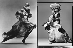Richard Avedon-fashion. Love the movement of fabric in these photos