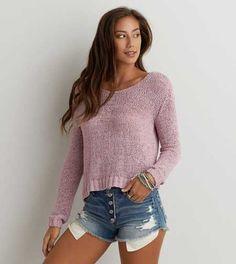 AEO Open Knit V-Neck Sweater