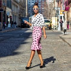 @the_real_chi  Top: @rainbowshops  Skirt: @rainbowshops  Shoes: @ysl  Pic: @styleneverfails  #Lotd #Polkadots #Polkadotskirt  #Polkadotshirt #BloggerStyle  #ChillinWithChi #RainbowStyle  #OnWednesdayWeWearPink #FlyFashionDoll #InstaFashion #Instastyle #Skirt...