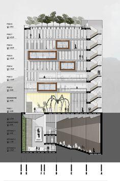 Mención Honrosa en Concurso público del diseño de nueva cinemateca distrital de Bogotá / Colombia