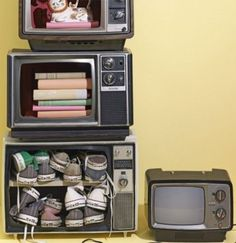 Old Televisions Nightstand