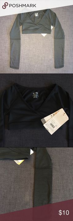 NWT Champion Performance L/S Crop Dance Top XS 4/5 NWT Champion Performance L/S Crop Dance Top in Black.  Size XS 4/5.  Very cute top.  Perfect for dance, yoga, gymnastics, etc.  See my other coordinating Champion athletic items.  Bundle & save!!  Sell Only; No Trades.  Thanks!! Champion Shirts & Tops