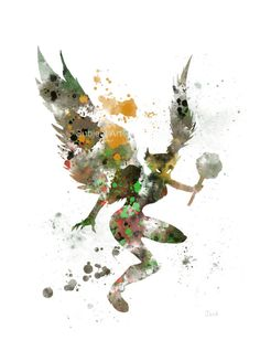 Hawkgirl ART PRINT illustration Superhero Comic Home by SubjectArt