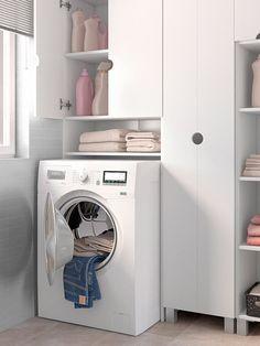 En el cuarto de la limpieza Merlin, Laundry Room, Washing Machine, Home Appliances, Interior Design, Spaces, Bedroom, Image, Sweet Home