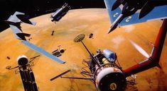 Born in 1888, Chesley Bonestell was an American illustrator that can safely  be described as the grandfather of modern science-fiction artwork and  design. His visualisations thoroughly influenced early science-fiction film  (such as George Pal), and inspired a generation of engineers that would go  on to develop the Apollo Lunar Exploration Program. Many of his designs  were visualisations of the vehicles envisaged by Werner Von Braun and his  team of ex-Nazi aerospace engineers, so these…
