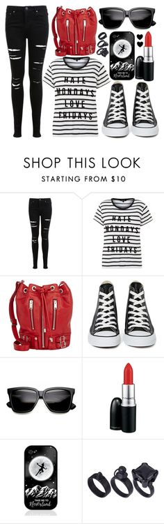 """street style"" by sisaez ❤ liked on Polyvore featuring Miss Selfridge, Yves Saint Laurent, Converse, MAC Cosmetics, Samsung and ASOS"
