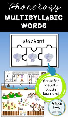 Practice multisyllabic words in a fun puzzle and zoo-themed activity designed for speech and language intervention! The packet begins with multisyllabic words and includes activities to work towards generalizing those and other 2-3 syllable words.