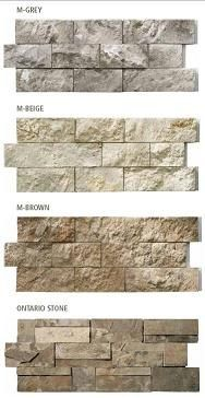 Modula Stone - Do it Yourself stone walls. I like the bottom stone coloring.