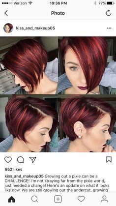 Thick Short Hair Cuts, Short Red Hair, Short Hair Cuts For Women, Short Hair Styles, Really Short Haircuts, Girls Short Haircuts, Short Bob Hairstyles, Sassy Hair, Hair Color And Cut