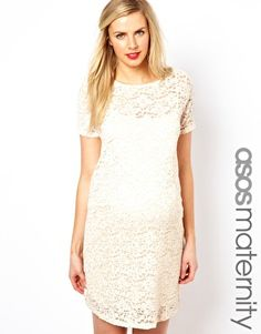 Asos Maternity Shift Dress In Lace With Sparkle Detail For Up Coming Casual Wedding I