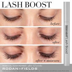 Rodan + Fields Lash Boost is a nightly conditioning serum applied once nightly with one swipe. With Keratin and Biotin, Lash Boost promotes the appearance of longer, fuller looking lashes and eyebrows. Message for more info. Rodan Fields Lash Boost, My Rodan And Fields, Rodan And Fields Eyelash, Long Lashes, False Lashes, Fake Eyelashes, Ardell Lashes, Rf Lash Boost, For Lash