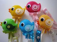 ♥♥♥ Piu-pius... by sweetfelt \ ideias em feltro, via Flickr