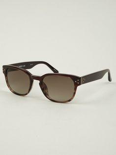 Linda Farrow Luxe LF234 Round D-Frame Sunglasses