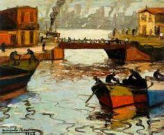 barcos Artist Journal, Art Friend, Post Impressionism, Figurative Art, Painting Inspiration, Art Pictures, Landscape Paintings, Illustration Art, My Arts