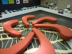 Love this seating!   Bibliotheek Floriande-NL