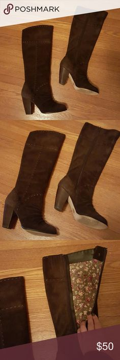 Dublin Boots in Dark Brown by Seychelles Such cute boots, but just not getting any use from me so it's time to give them a new home. Only worn a couple of times! Seychelles Shoes Heeled Boots