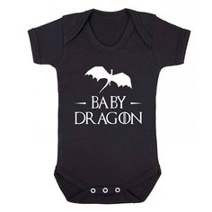 Baby Dragon Mother of Dragons baby grow brother sister vest cute Game of Thrones gift tumblr baby shower mother dad present S023 on Etsy, $12.99