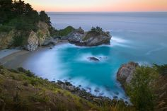 McWay Falls is one of the most iconic waterfalls in BIg Sur and can be seen from Highway 1. The trail to the falls is located in Julia Pfeiffer.