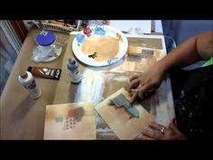 Collage and Layering Exercises Step 4. YouTube. Laura Lein-Svencer uses a small paintbrush and dark paint to add shadows and depth to her collage.