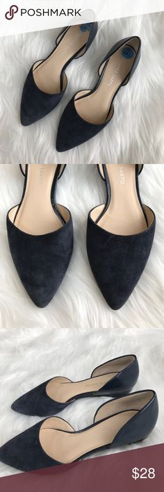 • Franco Sarto • Suede Navy Flats Size 6 1/2 - Franco Sarto  - Navy - Suede/Leather Flats - Size 6 1/2 - Excellent Condition Franco Sarto Shoes Flats & Loafers